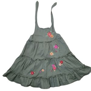 Baby sun halter dress ruffles embroidery floral